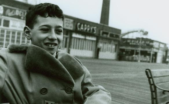 Childhood photo of David Geffen, Coney Island, NY. Photo courtesy of PBS
